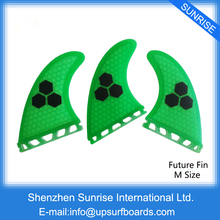 Free Delivery Future Fins Inexperienced Honeycomb Fin M Dimension Surfboard Fin Future Fundamental Tri Fin set