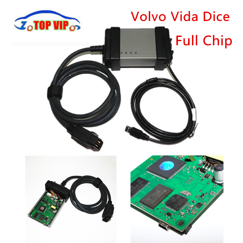 Green Board! Vida Dice 2014D Full Chip Multi-Language For Vo-l-vo Dice Pro+ Vida Dice Full Function Diagnostic Scanner Tool vdm ucandas wifi full system automotive diagnostic tool multi language newest version v3 73 include for h onda adapter