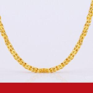 Image 2 - JLZB 24K טהור זהב שרשרת אמיתי AU 999 מוצק זהב שרשרת חכם יפה אופנתיים יוקרתיים קלאסי תכשיטים חמה למכור חדש 2020