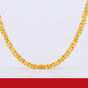 Image 2 - JLZB 24K Pure Gold Necklace Real AU 999 Solid Gold Chain Smart Beautiful Upscale Trendy Classic  Fine Jewelry Hot Sell New 2020