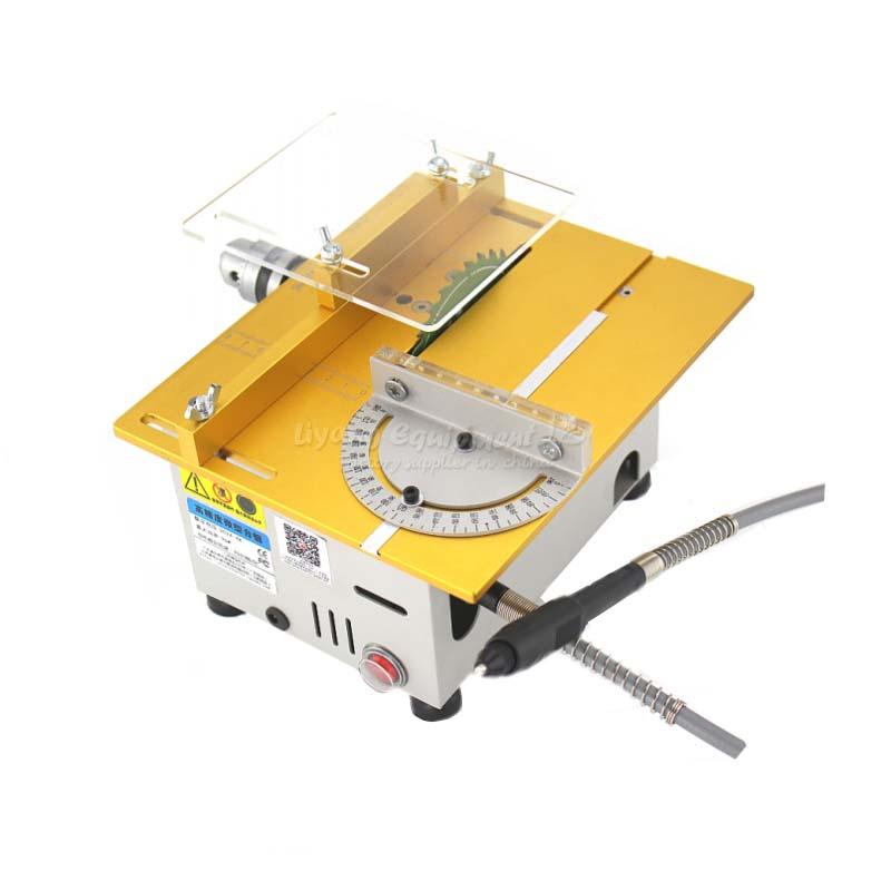 multi function bench saw mini cutting machine Motor speed 7000/min q10032 miniature precision multi function bench saw t6 small cutting machine