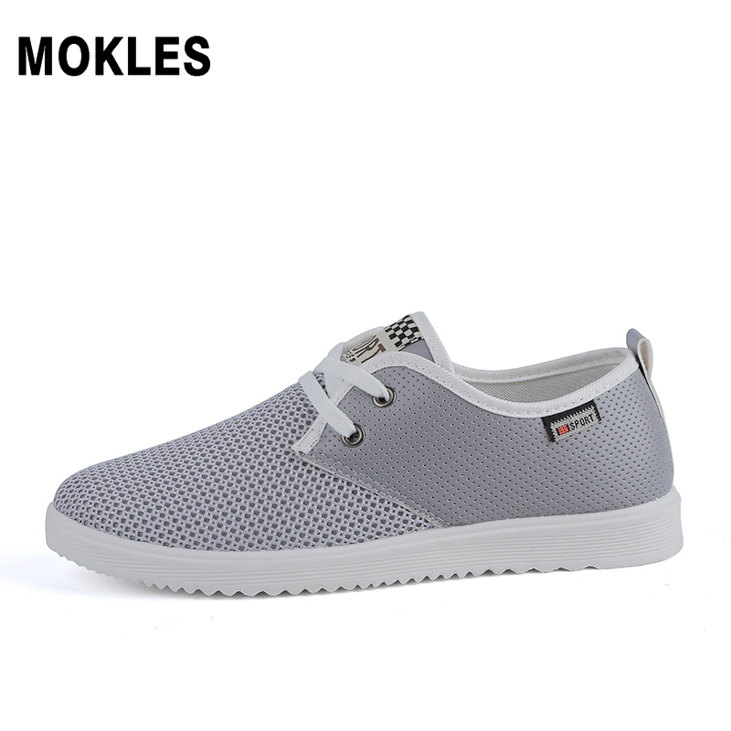 spring men youth wild lightweight comfortable mesh zapatos breathable round head low help casual board shoes black gray khaki