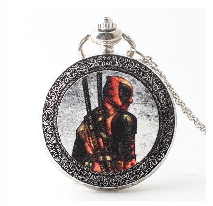 Vintage Pocket Watch Men Watch The Pocket Watch Chain United States Deadpool Antique Clock Women Gift LKM32