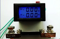 Dual DC ammeter voltmeter combination meter DC199.9V DC100A + 100A shunt