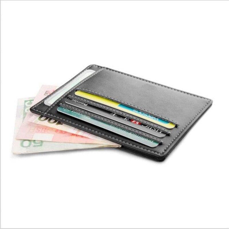 Rfid blokkoló karcsú hitelkártyatartó pénztárcák Travel valódi bőr kisvezetői licenc pénztárca Mini ID kártya Protector