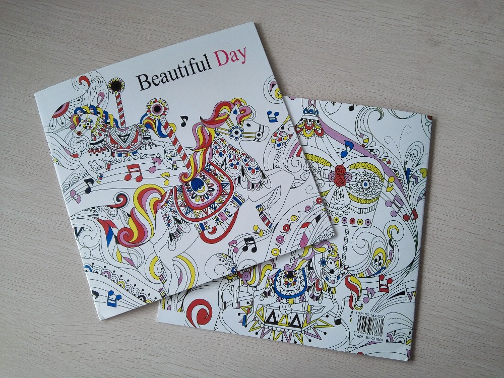 Beautiful Day 24 Pages Secret Garden Styles Coloring Book For Children Adult Relieve Stress Painting Drawing Books