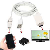 2 5m Micro Usb 11pin 5 Pin To HDMI 1080P HDTV Audio Video Cable Adapter Converter
