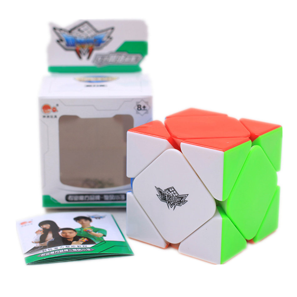 Cyclone Boy Magnetic Skew Cube 3x3 Skew Magic Cube 3Layers Magnetic Speed Cube Professional Puzzle Toys For Children Kids Gift