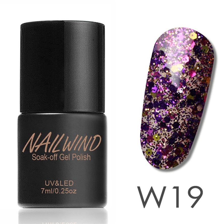 Christmas Nail Art With Gel Polish: 2017 New NAILWIND 1PC 7ML Fashion Women Diamonds Gel Nail