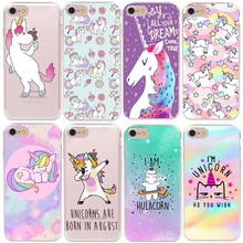 HryCase Matte Hard Plastic Cute Hippo Unicorn Horse Case Cover For Apple iPhone XS Max XR 8 7 X 6 Plus 5 5S SE Phone Cases(China)