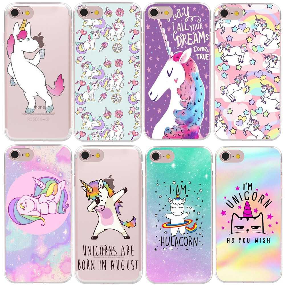 HryCase Zachte Siliconen Leuke Hippo Eenhoorn Paard Case Cover Voor Apple iPhone 11 Pro Max XS Max XR 8 7X6 Plus 5 5S SE Telefoon Gevallen