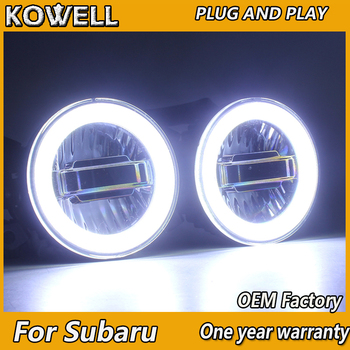 KOWELL Car Styling for Subaru BRZ XV Impreza Forester LED Fog Light Auto Angel Eye Fog Lamp LED DRL 3 function model