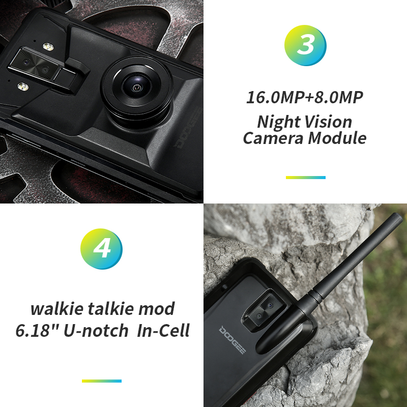 Image 3 - DOOGEE S90 Super Box Rugged Mobile Phone 6.18inch Smartphone IP68/IP69K Helio P60 Octa Core 6GB 128GB 3 Extra Module Cellphone-in Cellphones from Cellphones & Telecommunications