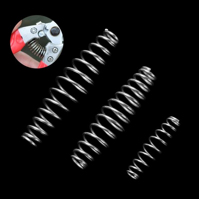 1/5 Pcs 3 גדלים באיכות פלדה דחיסת אביב 3/5/6 cm כסף מזג אביב פלדה חוט גינון מספריים אביזרי כלי