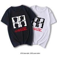 RAEEK été marque groupe de musique gorillaz t-shirt couverture en coton t-shirts hommes à manches courtes garçon décontracté homme t-shirt mode livraison gratuite
