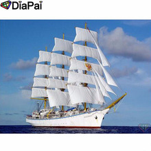 DIAPAI Diamond Painting 5D DIY 100% Full Square/Round Drill Boat scenery Embroidery Cross Stitch 3D Decor A24711