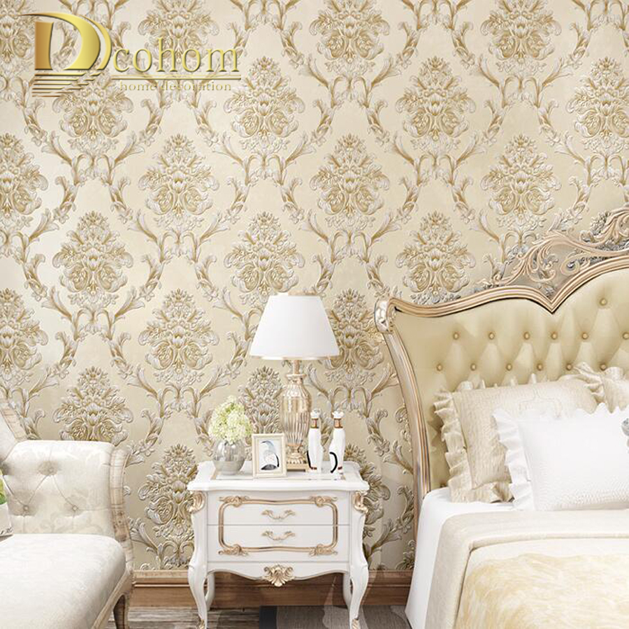 modern Luxury Damask European 3D Wallpaper For Walls Decor Embossed Wall Paper Rolls For Bedroom Living Room Sofa TV Background lawrence lowrance mark 5x pro dual fish finder chinese edition 5 inch