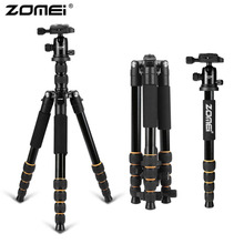 Zomei Professional Portable Travel Camera Tripod Lightweight Aluminum Monopod With 360 Degree Ball Head For DSLR Canon Camera zomei z688 professional photographic travel compact aluminum heavy stable tripod monopod ball head for digital dslr camera excl