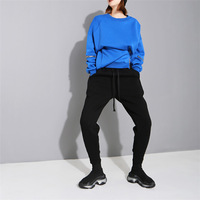 ARANSUE New Heating and Furring and Thickening Korean version of Hallen Pants Lounge pants with high waist and small feet