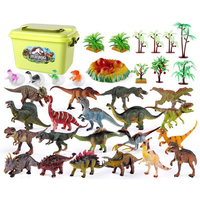 20 Types Dinosaur Simulation Model Figure Toy 34Pcs Children Early Education Cognition Learning Set for Kid Birthday Kits