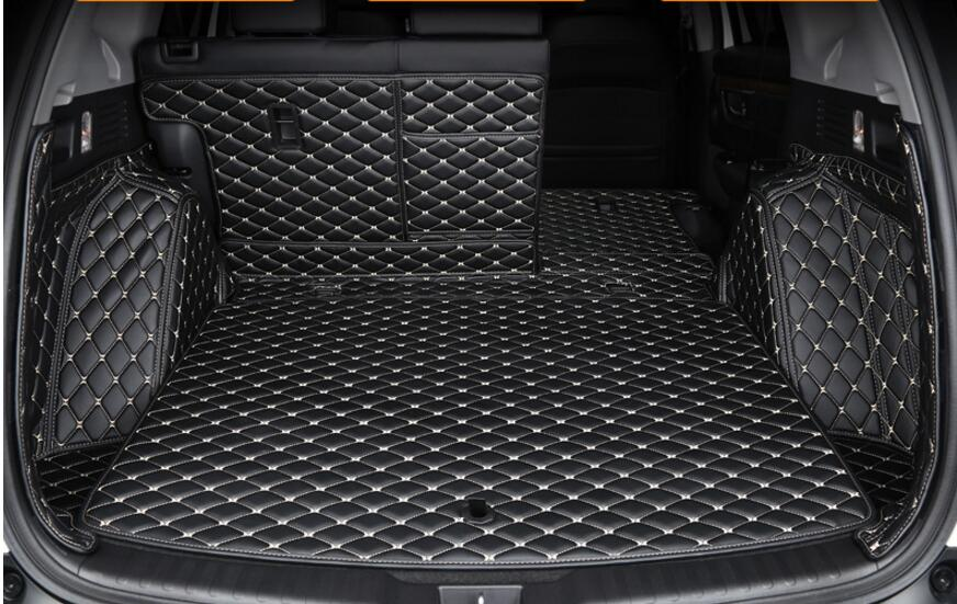 For Honda CR-V 2017 2018 Artificial Leather Car Boot Carpet Trunk Cargo Liner Trunk Mat Protector car interior rear cargo trunk mat pad 1set artificial leather for honda crv cr v 2017 2018 car accessories styling