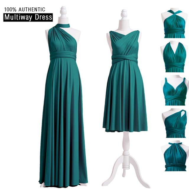 443d701c2b4 Teal Bridesmaid Dress Long Multiway Dress Infinity Plus Wrap Dress  Convertibel Floor Length Maxi Dress With One Shoulder Styles