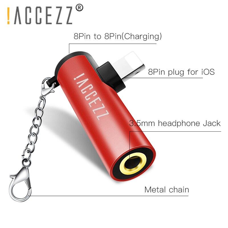 ! ACCEZZ 2 в 1 для Apple аудио адаптер для iPhone 7 8 X XR XS 3,5 мм разъем для наушников AUX зарядное устройство разъем для прослушивания для iOS 11 12