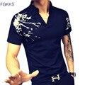 2017 Новое Прибытие Лето Polo Мужчины Рубашка Мода Коротким Рукавом Печатных Polo Мужские Случайные Высокое Качество Хлопка Polo Рубашка Человек