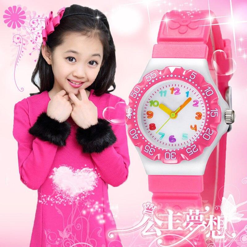 New Princess Children Flower Cartoon Watches Fashion Kids Student Cute Watches