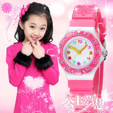 New Princess Children Flower Cartoon Watches Fashion Kids St