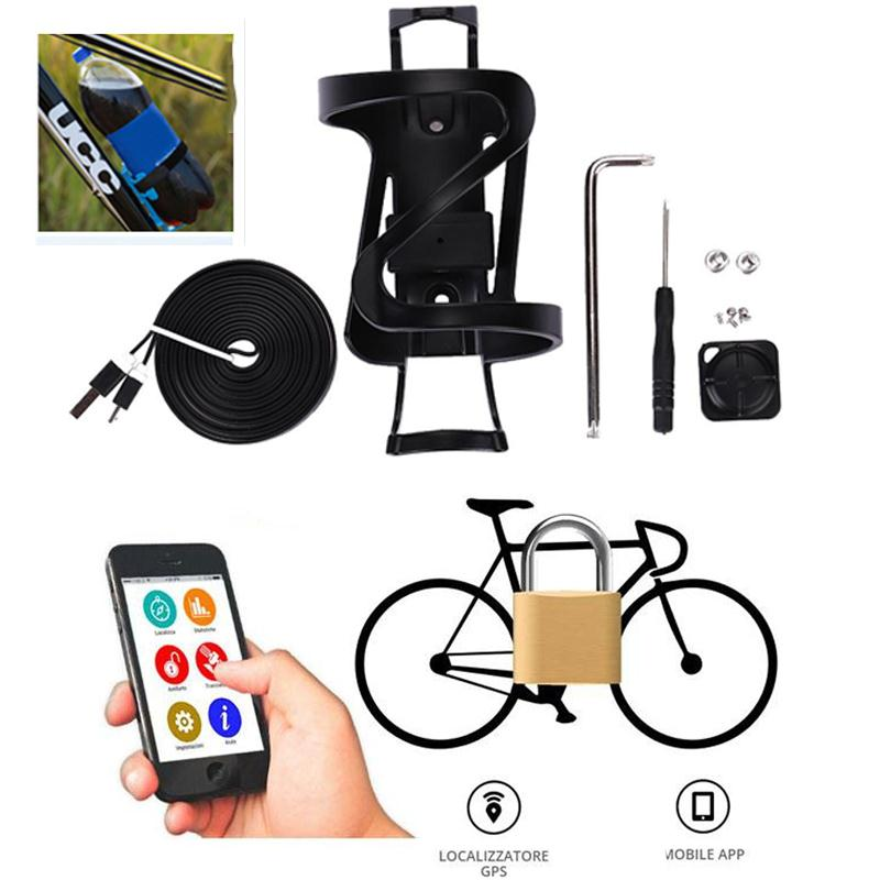 Waterproof Bluetooth alarm Bicycle Anti-theft Bottle Cage Rack GPS Anti-theft IPX67 Shockproof Intelligent Unlock Cycling