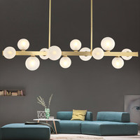 Modern LED pendant lights living room suspended lamp loft luminaires Nordic dining room lighting fixtures Copper hanging lights