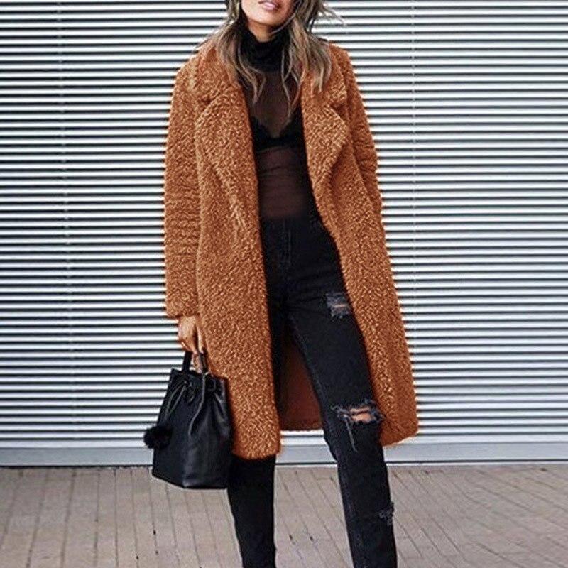 1 Stücke Frauen Dame Mantel Mantel Warme Langarm Revers Fashion Solid Farbe Für Winter-mx8 Spezieller Sommer Sale
