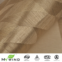 Hand made wallcovering Natural fabric Textured Silver Geometric desgins Morden Wallpaper For Home Decoration Hotel Wall