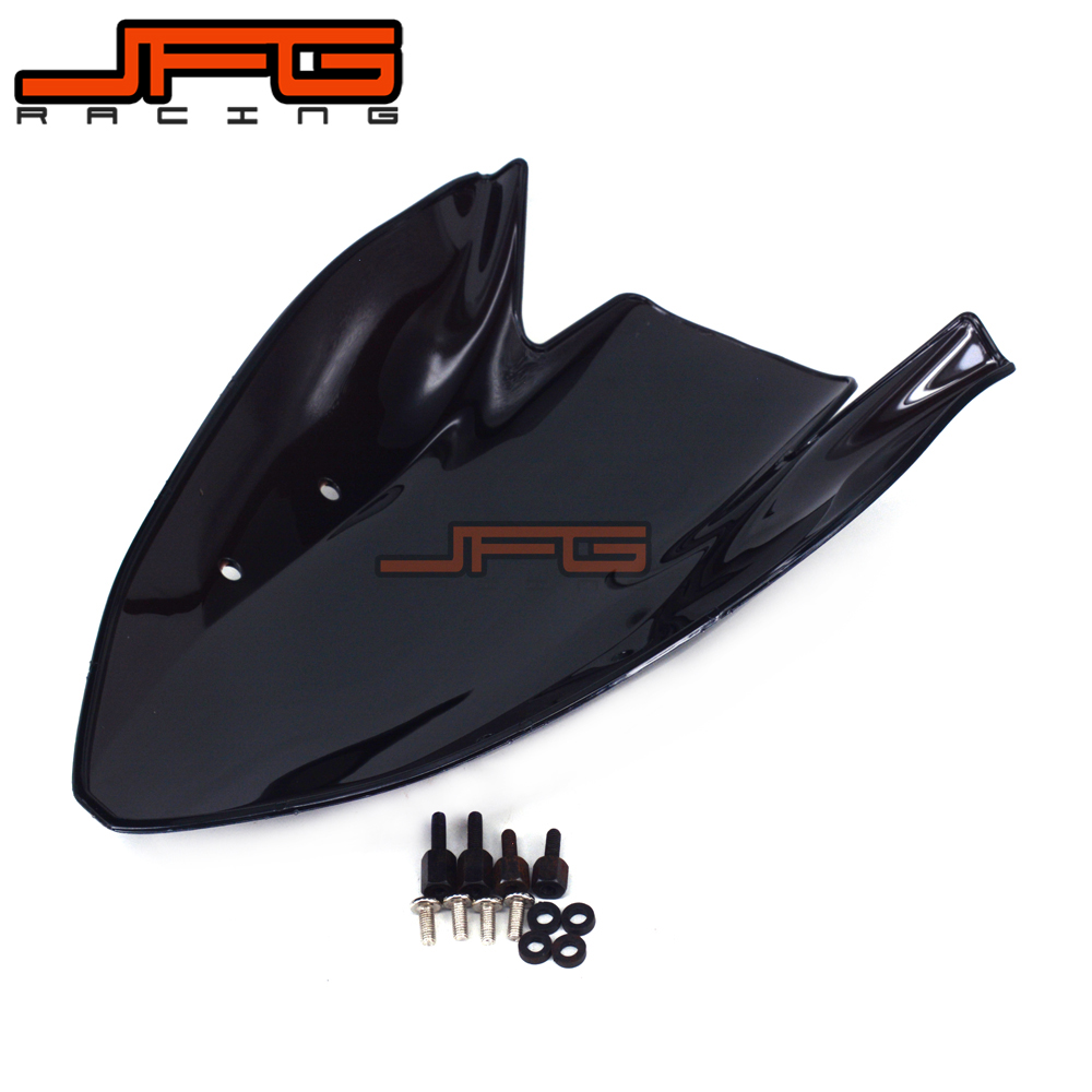 Motorcycle Windshield Windscreen For Kawasaki Z1000 2003 2004 2005 2006 Black