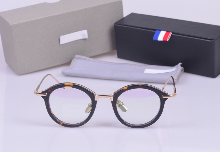 Vintage TB011 round frames unisex eyeglasses frames prescription eyewear for women men with logo and original box image
