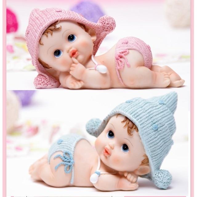 lovely resin sleeping bady figurine favors for birthday baptism