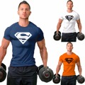 Hot-sale clothing M-2XL Superman t-shirt mens bodybuilding clothing fitness men Free shipping