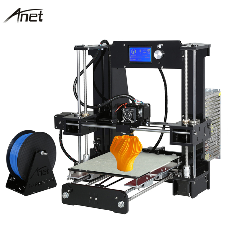 Anet Auto Levelling A6 Impresora 3D Printer High Precision Aluminum Hotbed  Extruder Printers DIY Kit PLA Filament 8G SD Card easy assemble anet a2 3d printer kit high precision reprap prusa i3 diy 3d printing machine hotbed filament sd card lcd