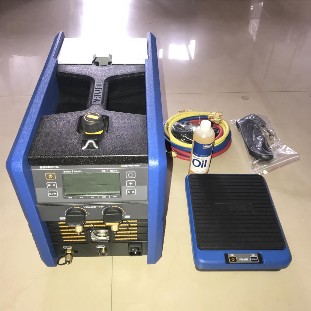 Intelligent machine de remplissage VRC-6100i de remplissage réfrigérant pesant numérique affichage