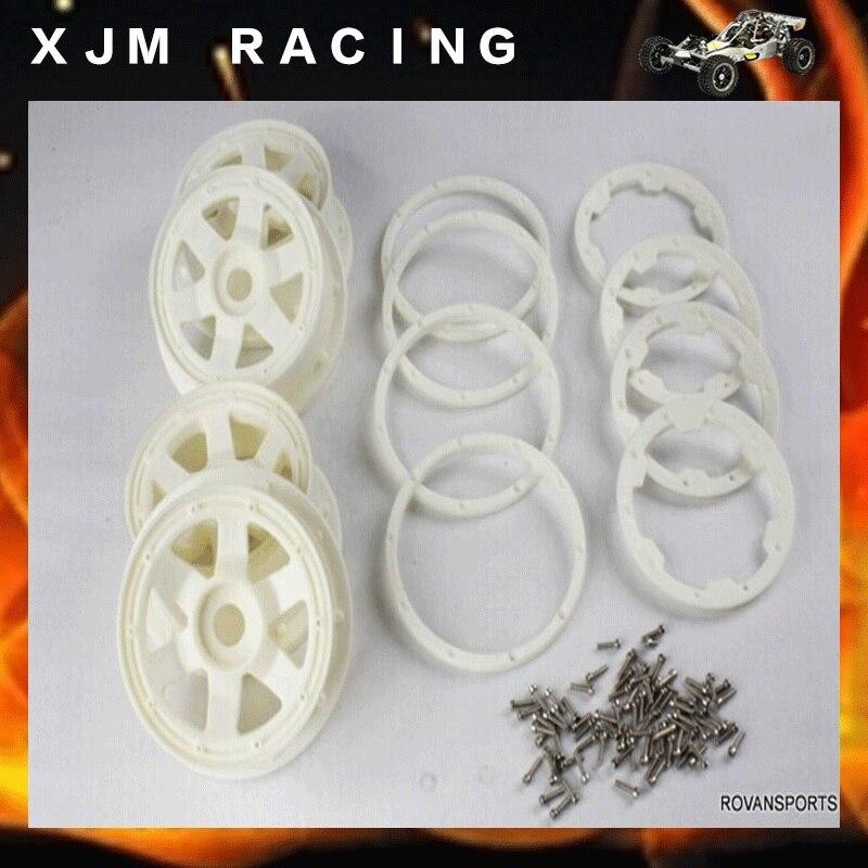 KIT de roues ROVAN en NYLON HD avec anneau de verrouillage et vis pour HPI KingMotor BAJA 5 TKIT de roues ROVAN en NYLON HD avec anneau de verrouillage et vis pour HPI KingMotor BAJA 5 T