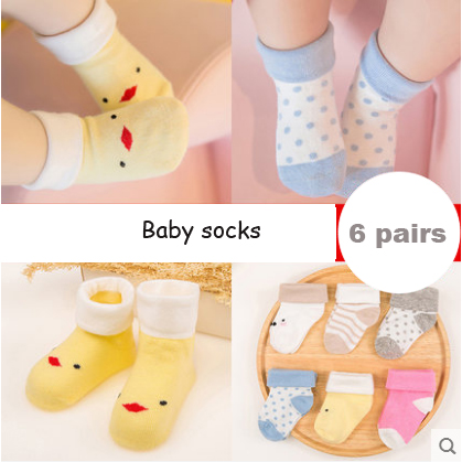 Hot 6 Pairs Pack new Baby Boys and Girls Baby Socks Fashion Mesh Children Kids Winter Warm Socks