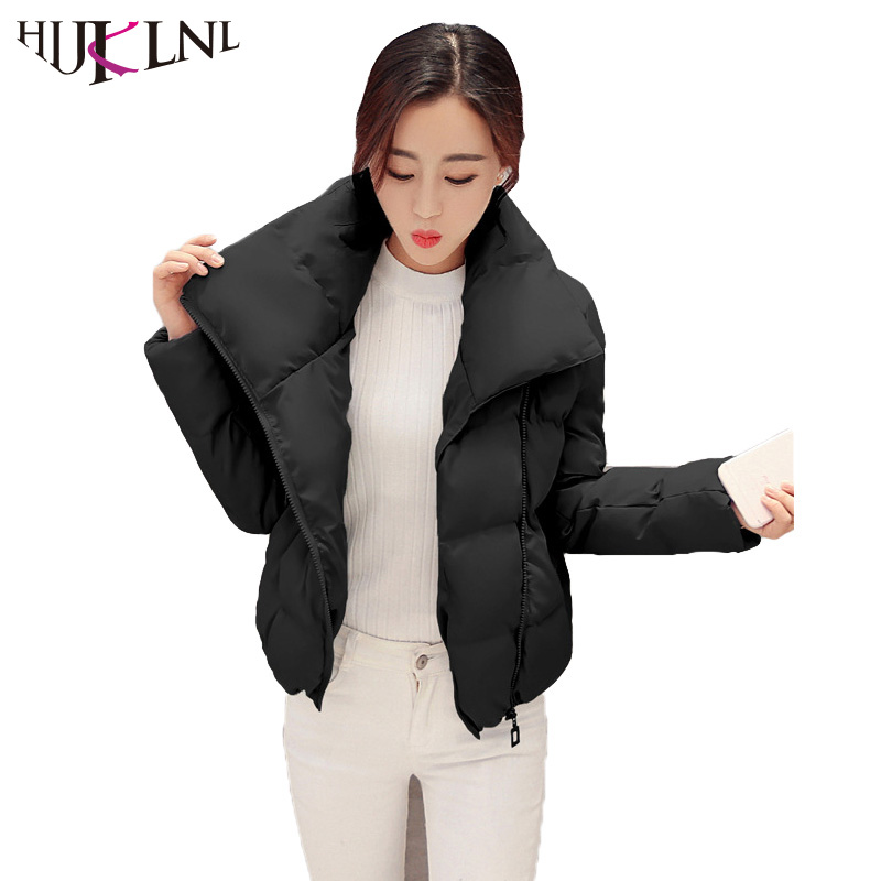 HIJKLNL Fashion 2017 Wadded Winter Women Jacket Girls Padded Slim Parkas Mujer Stand Collar Cotton Short Jacket Coat ST219 short cotton parkas 2017 winter jacket women abrigos mujer stand collar outwear wadded padded jacket parkas winter coat c3396
