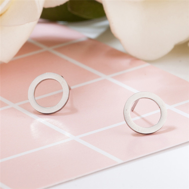 Classic women s earrings Stainless steel Golden Silver plated Round earrings for women Fashion earring wholesale.jpg 640x640 - Classic women's earrings Stainless steel Golden Silver plated  Round earrings for women Fashion earring wholesale E020811