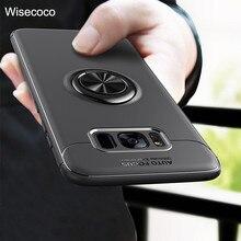 Телефон чехлы для samsung Galaxy s8 s9 плюс Магнитная Кронштейн кольцо Автомобильный Держатель Роскошные Силиконовый противоударный задняя крышка для Galaxy s9