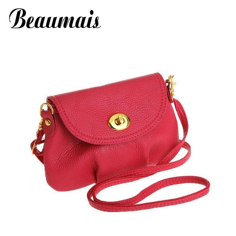 Beaumais 2017 Fashion Women Messenger Bags Cover zipper Mini Small Women Handbags Women Shoulder bags Crossbody Bags XB001