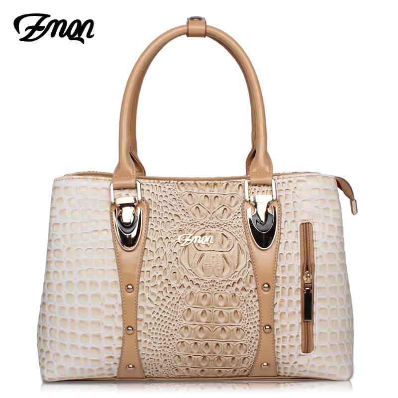 ZMQN Luxury Handbags Women Bags Designer Bags For Women 2019 Fashion Crocodile Leather Tote Bags Handbag Women Famous Brand A804