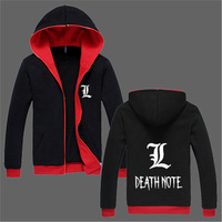Death Note Hoodie Anime Hooded Men And Women Cotton Fleece Winter Casual Zipper Death Note Hoody