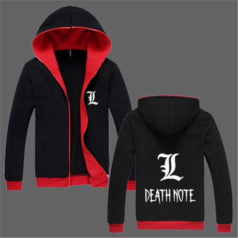 Death Note Hoodie Anime Hooded Men And Women Cotton Fleece Winter Casual Zipper Death Note Hoody