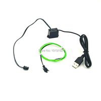DC5V By USB 1Meter 1 3mm EL Wire Flexible Neon Light Glow Rope Tape Cable Strip